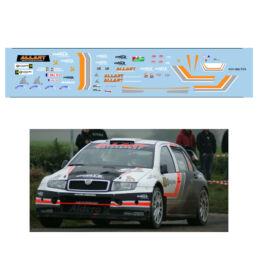 Décalcomanie pour miniature 1/43 SKODA FABIA WRC - Rallye du Condroz 2016
