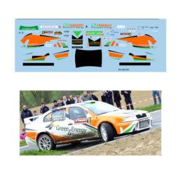 Décalcomanie pour miniature 1/43 SKODA OCTAVIA WRC - Rallye de Wallonie 2012