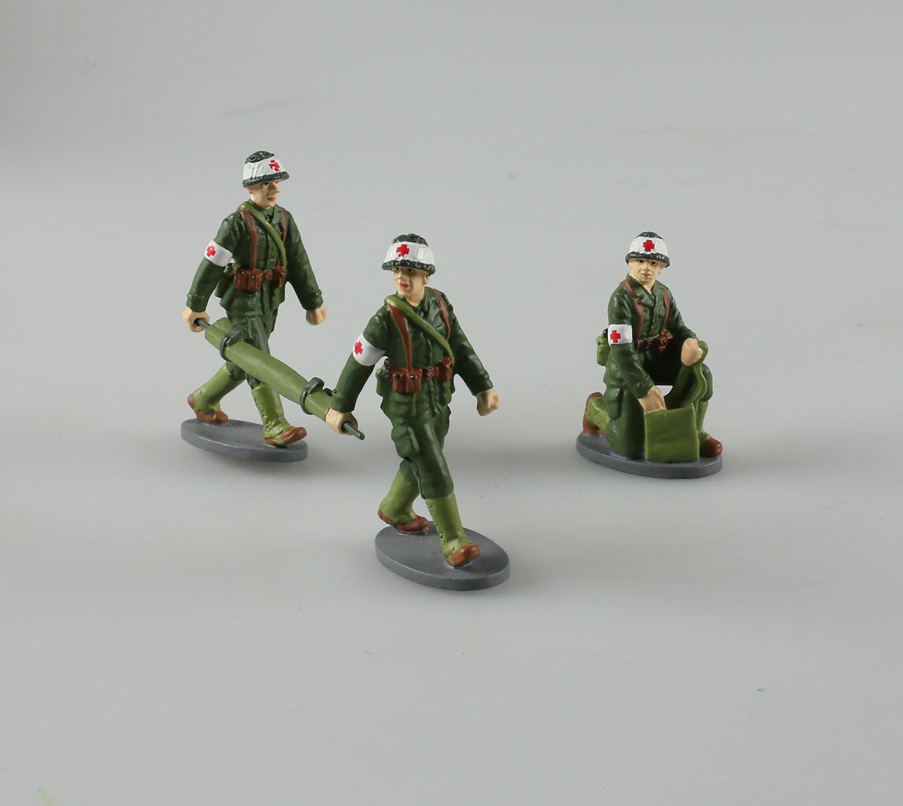 Soldats ambulanciers armée française 1/43