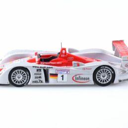 Miniature Audi R8 #1 Le Mans winner 2002-Biela, Kristensen, Pirro, 1/43