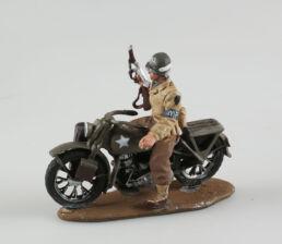 Soldat de l' US Army, Military Police sur sa Harley