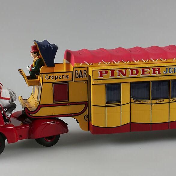 Cirque Pinder, ensemble Tracteur + Remorque Crêperie Postillon, 1/43